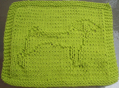 Knitting Pattern For Jack Russell : DigKnitty Designs: Jack Russell Knit Dishcloth Pattern