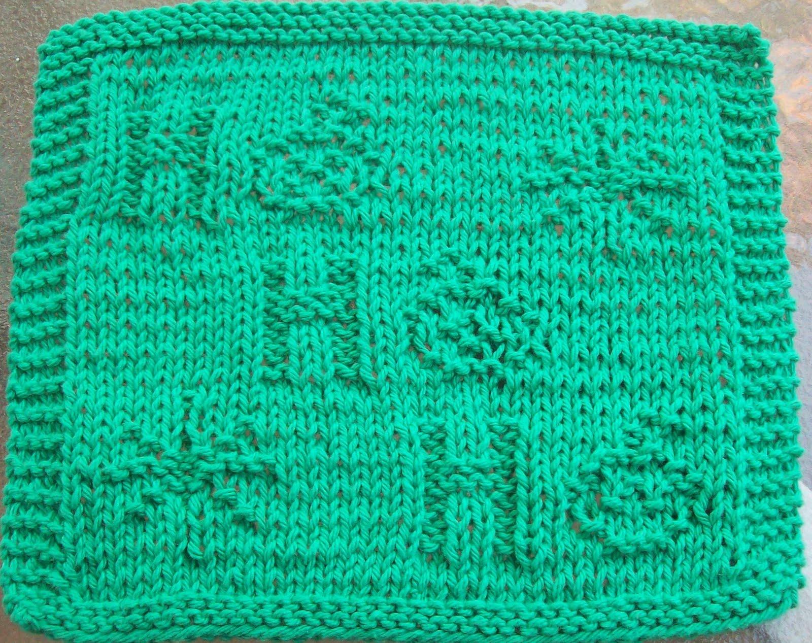 DigKnitty Designs: Ho Ho Ho Knit Dishcloth Pattern