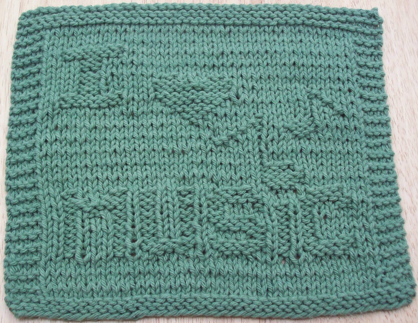 DigKnitty Designs: I Heart Music Knit Dishcloth Pattern