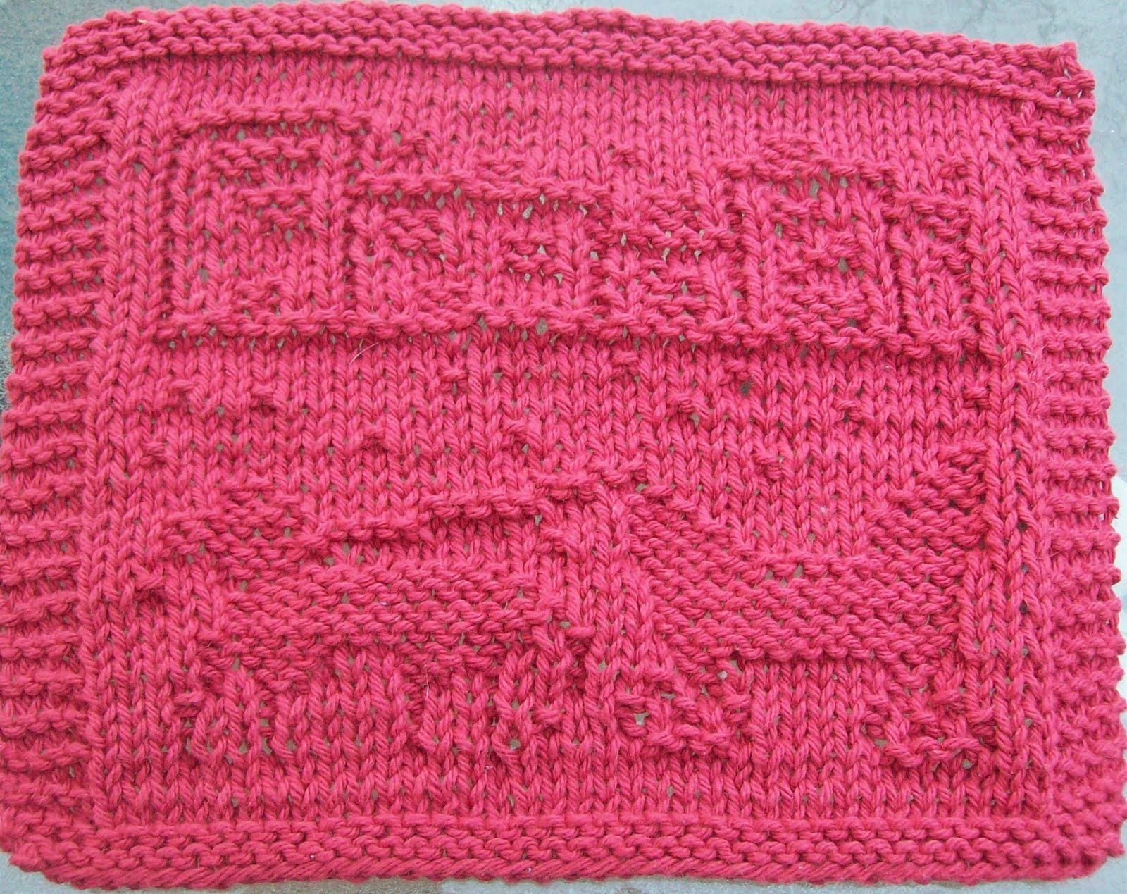 Knit Dishcloth Pattern Horse : DigKnitty Designs: Winter Carriage Ride Knit Dishcloth Pattern