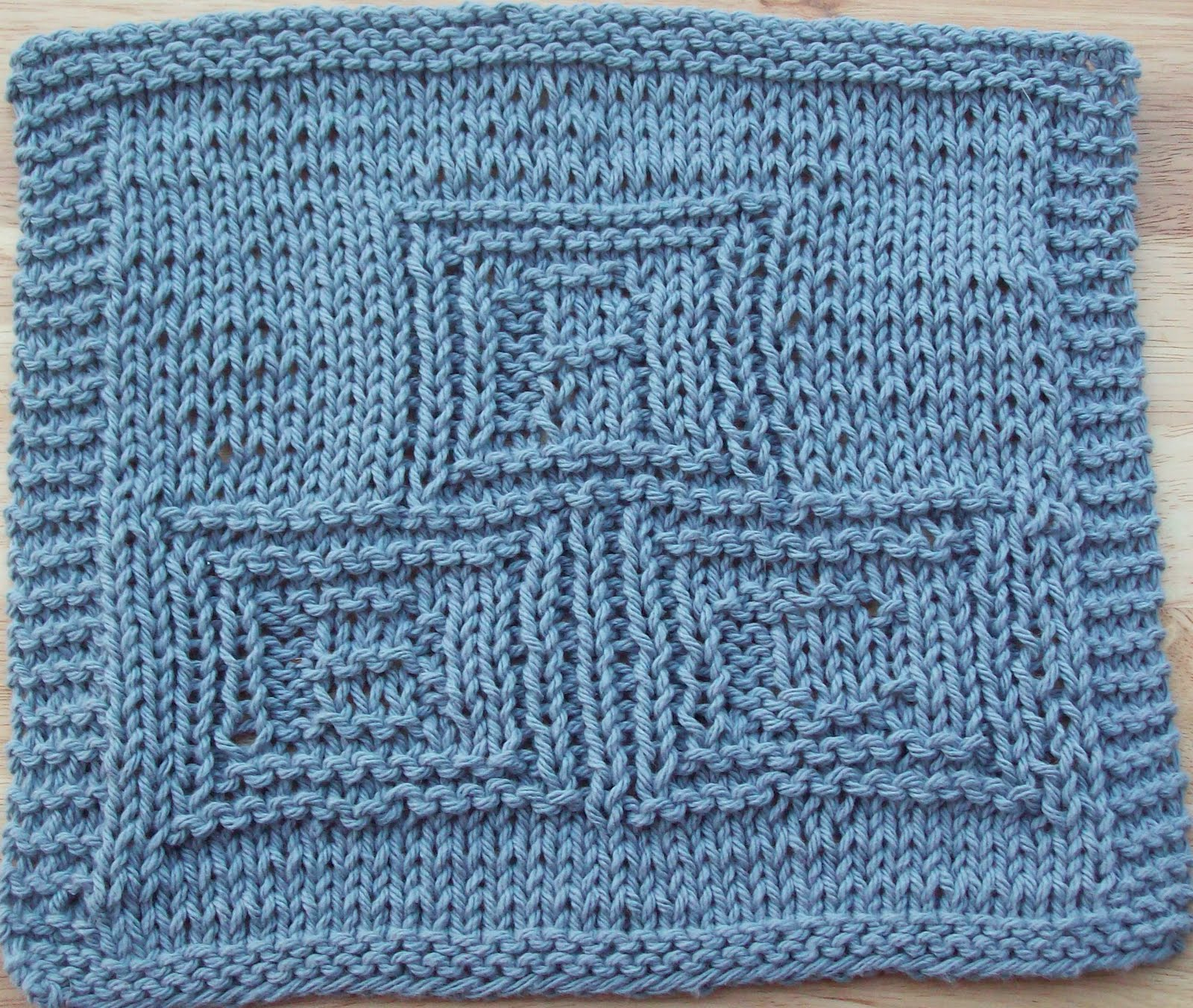 DigKnitty Designs: ABC Blocks Knit Dishcloth Pattern