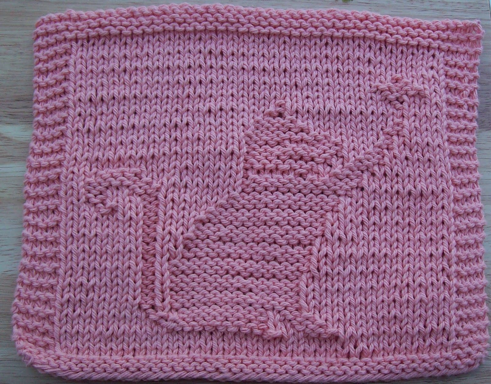DigKnitty Designs: Cat With Butterfly Knit Dishcloth Pattern