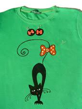 tricou Pisi cu Fundite + cercei cadou - sold