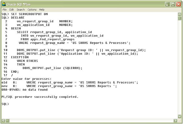 Oracle Apps Quick Reference How To Use The Ampersand Symbol In