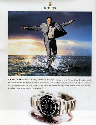 Pub Montre Rolex Submariner Plongeur Comex Theo Mavrostomos