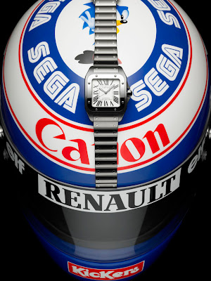 Casque Alain Prost Montre Cartier Santos