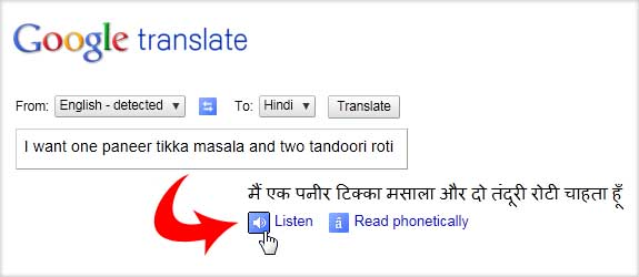 google translate english into hindi