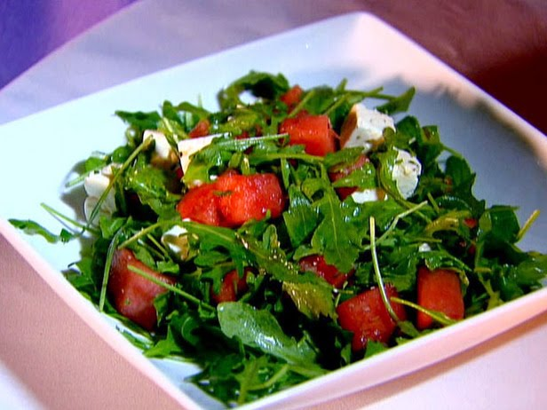 barbeque this weekend, i made this arugula, watermelon and feta salad ...
