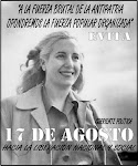 con EVITA construyamos la PATRIA que soamos