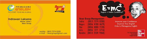 desain kartu nama ibear Group