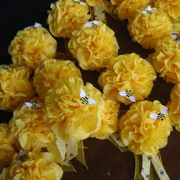 All Of The Guests At Her Party Also Got These Pretty Bee Adorned Pom Corsages
