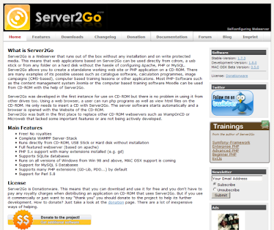 server2go servidor portable ejemplo