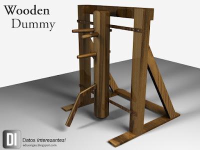 wooden dummy o muk yan chong en 3d - Lightwave 3D