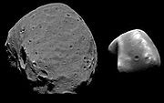 Mars' Moon; Phobos (left) and Deimos (right)