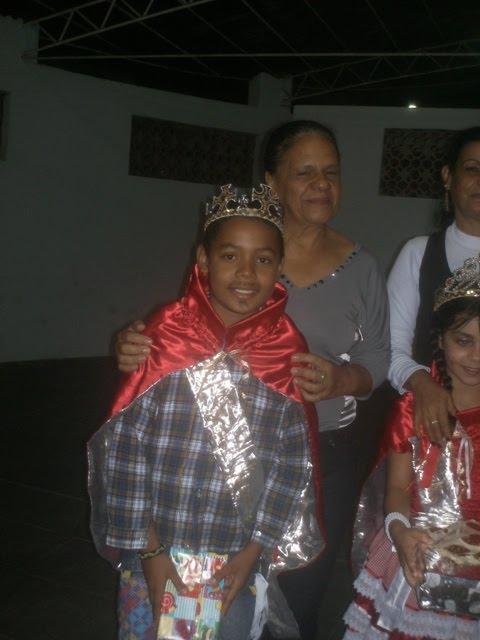 Nosso Rei da Caipira Igor e sua catequista Aparecida do 2ª livro!!