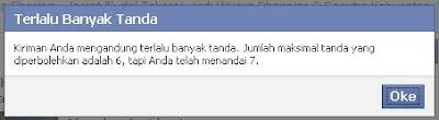 Menandai Teman Facebook di Status