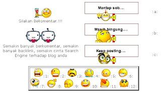 Menambah Fitur Emoticon Pada Komentar Blog di Blogspot