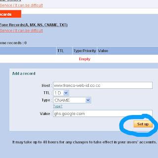 Panduan lengkap Setting domain berbayar di Blogspot+Redirect
