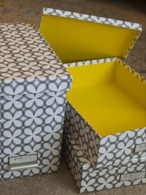 storage yellow storage boxes. Black Bedroom Furniture Sets. Home Design Ideas