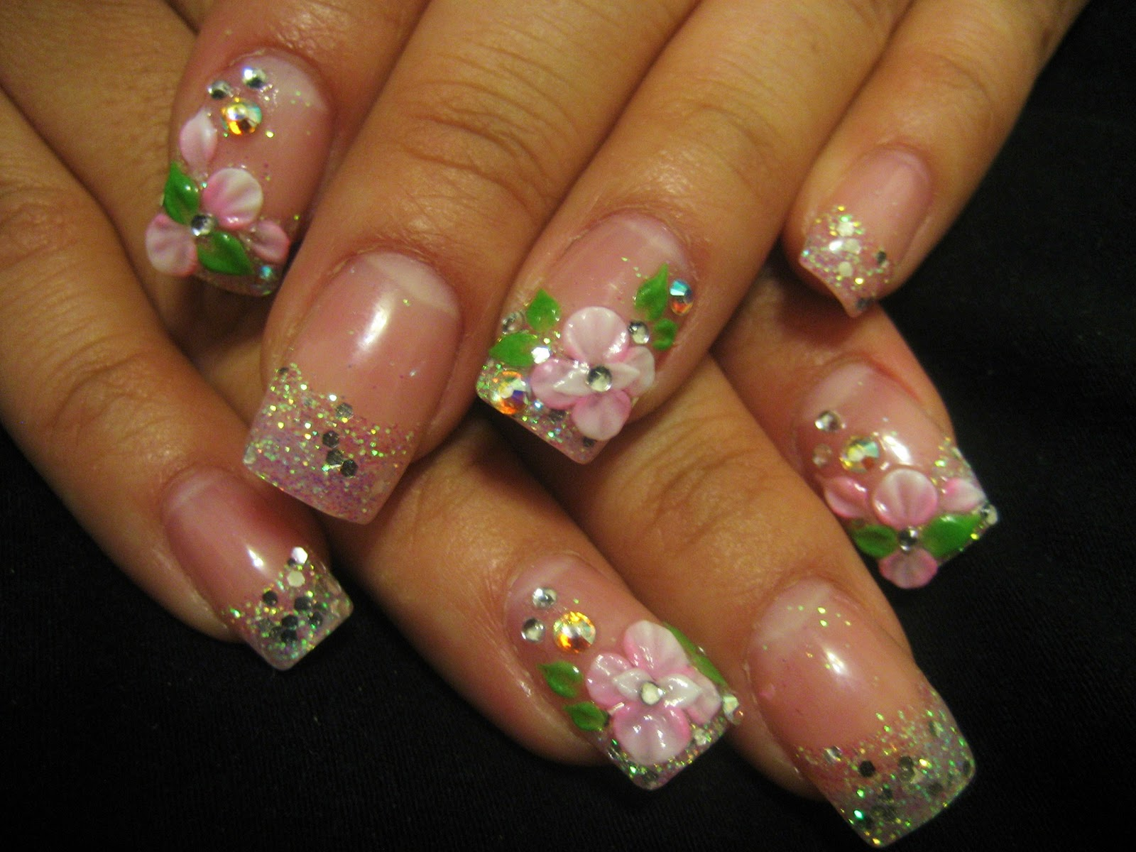 The Extraordinary Gel nail designs with glitter Digital Imagery