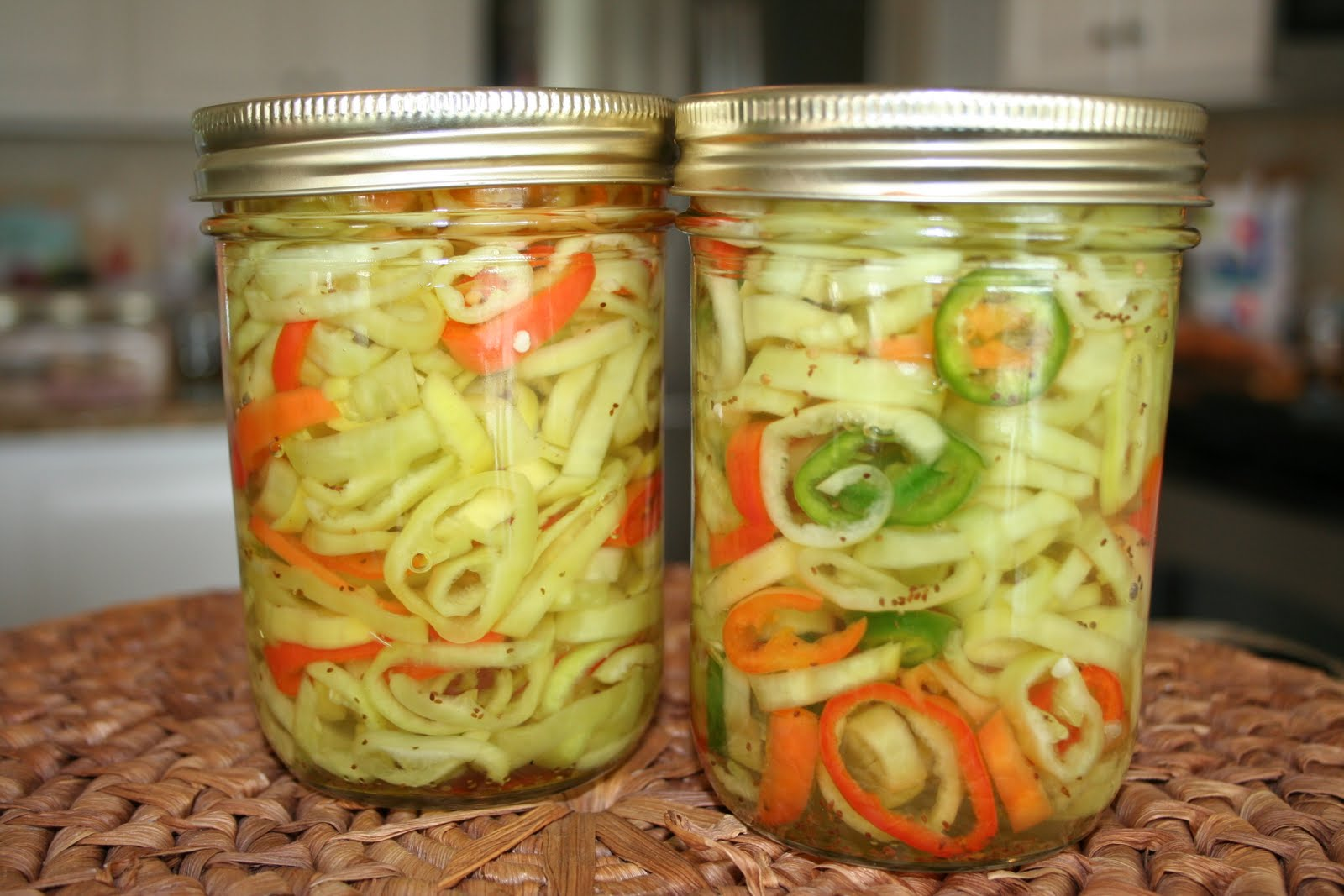 Pickled Banana Pepper With sweet banana peppers