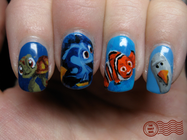 October 2010 the daily nail just keep swimming prinsesfo Choice Image