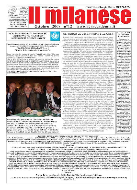 il milanese ottobre 2008 pag 1.