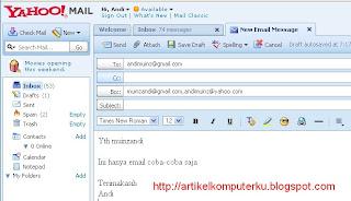 Ketik Pesan email