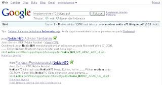 Hasil penelusuran lanjutan google
