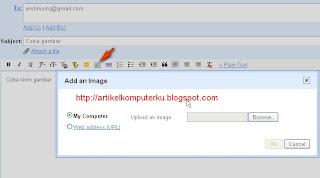 menampilkan gambar di dalam email