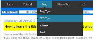 Cara Membuat Menu Navigasi di Blogspot