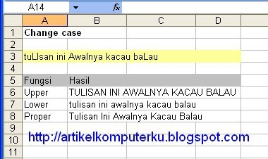 change case excel