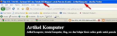 Mengubah Judul Blog  di Belakang Judul posting Agar SEO Friendly