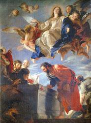 15 de agosto: ASUNCIÓN DE LA VIRGEN MARÍA EN CUERPO Y ALMA A LOS CIELOS. Solemnidad. De precepto