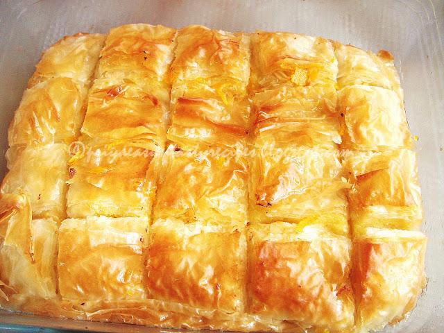 Priya's Versatile Recipes: Galaktoboureko/Greek Custard ...