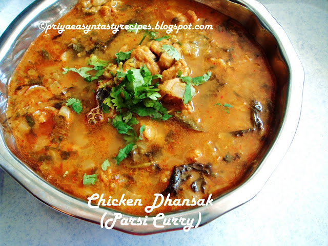 Priyas versatile recipes chicken dhansak parsi curry chicken dhansak parsi curry forumfinder