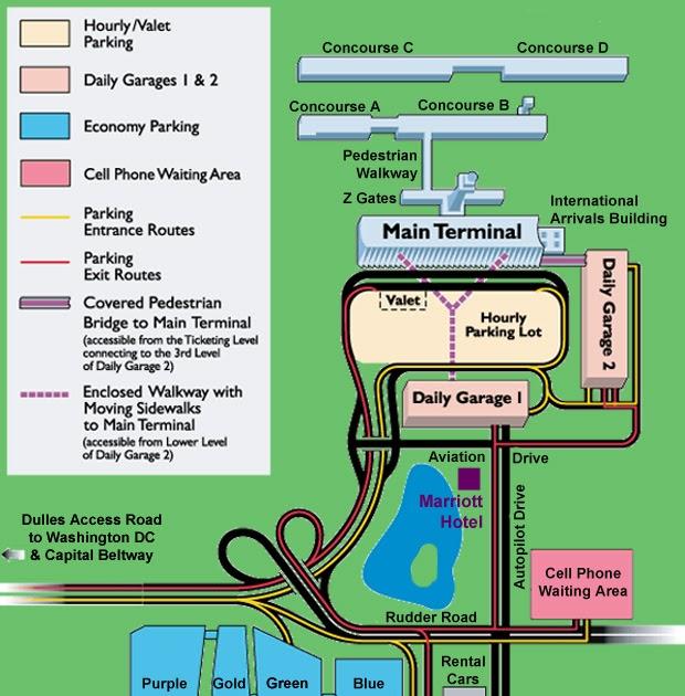 Dulles Airport Parking: Dulles Airport Parking Map