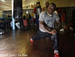 Joshua Clottey Training