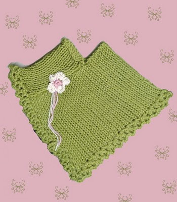 : Poncho for the American Girl Doll -- a machine knit pattern