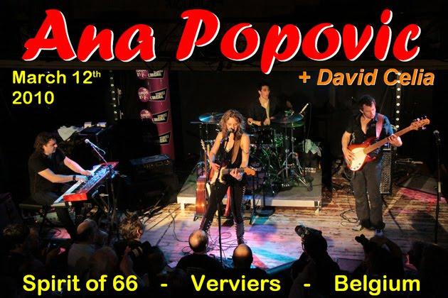 "Ana Popovic + David Celia (12/03/10) at the ""Spirit of 66"" in Verviers, Belgium."