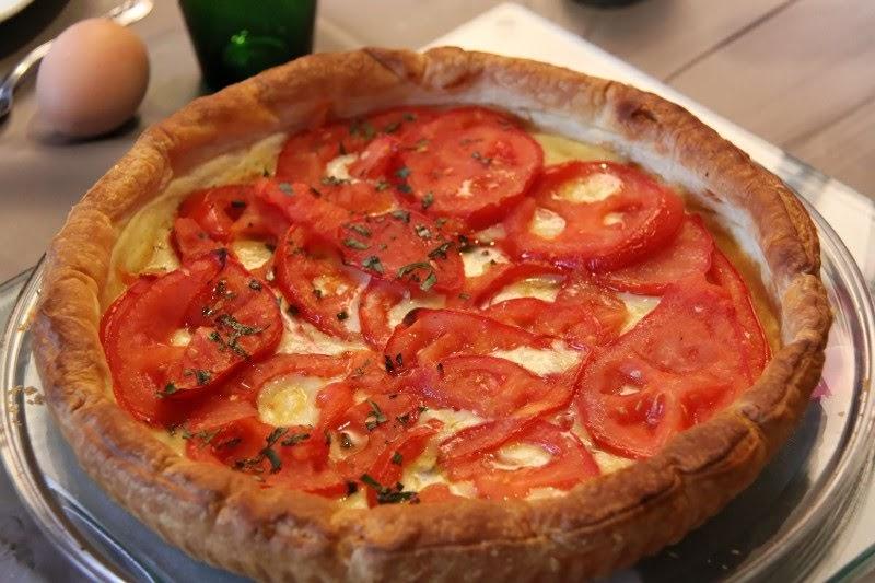ma cuisine vapeur tarte feuillet 233 e tomates cantal