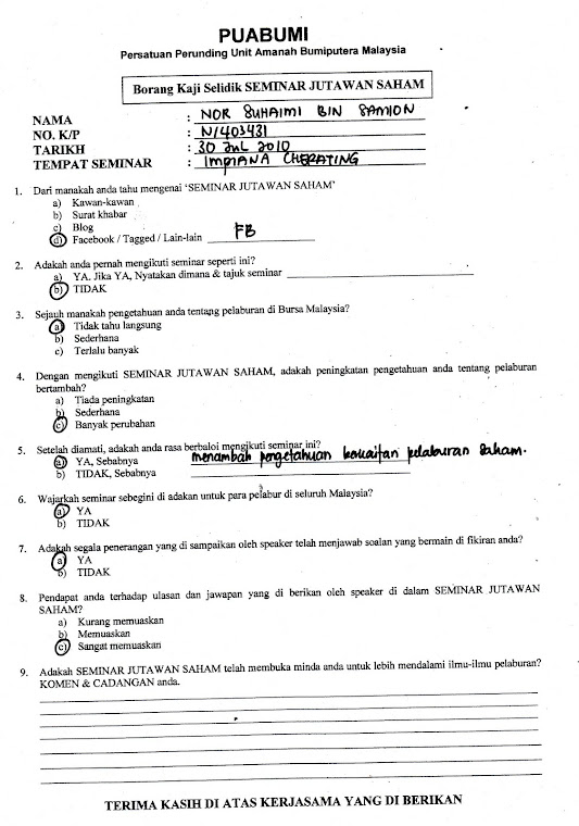 Testimoni Kuantan 31 Julai 2010