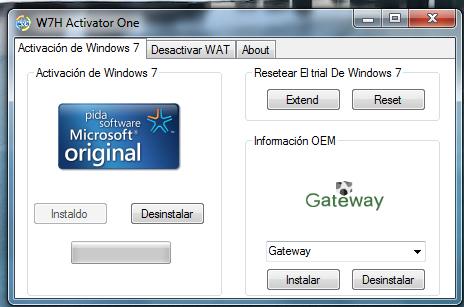 Descargar w7h activator.