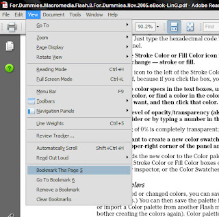bookmark pages in Acrobat reader