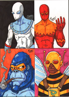 PSC - Captain Satellite, Devil Dynamite, Blue Behemoth, Drone Man