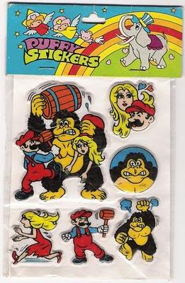 Bootleg Donkey Kong stickers