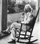 Samuel Langhorne Clemens 1835-1910 smoking on the porch