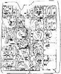 Maya Tortuguero Monument Six Hieroglyphs