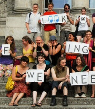 350 Euro Youth Activists at the Bundestag in July 2009 by Blaine O'Neill