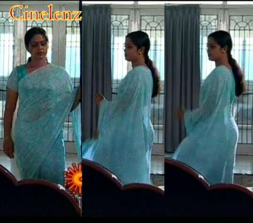 TV SERIAL ACTRESS: Tamil serial Aunty Devipriya in blue saree